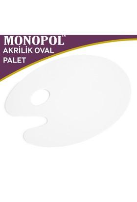 Monopol Akrilik Oval Resim Paleti - 20X30Cm