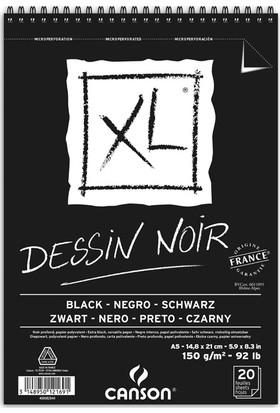 Canson Xl Dessin Noir Siyah Eskiz Blok - A5