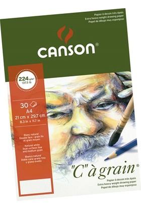 "Canson ""C"" À Grain Çizim Defteri 224Gr - A4"