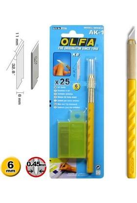 Olfa Ak-1 Kretuar Sanat Bıçağı + 25 Yedek