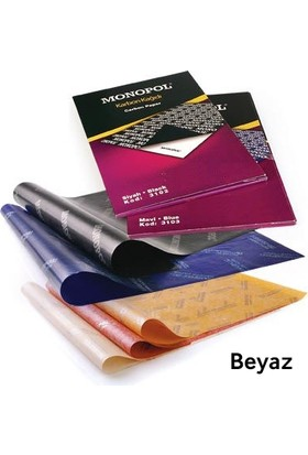 Monopol A4 Karbon Kağıdı 5'Li - Beyaz