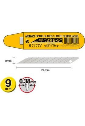 Olfa Dkb-5 30 Derece Açılı Dar Maket Bıçağı Yedeği 5'Li Kap