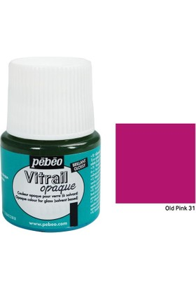 Pebeo Vitrail Cam Boyası 45Ml - 31 Old Pink