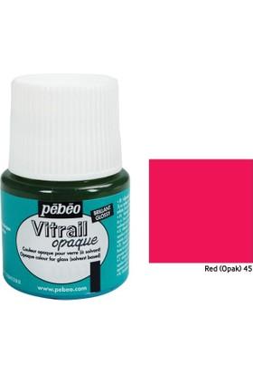 Pebeo Vitrail Cam Boyası 45Ml - 45 Red (Opak)