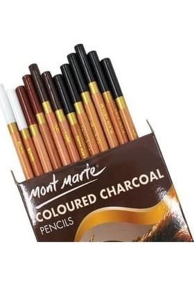 Mont Marte Renkli Kömür Kalem Seti 12'Li
