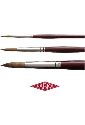 Habico Yuvarlak Uçlu Sentetik Fırça Seri 123 - No.2/0