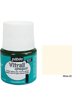 Pebeo Vitrail Cam Boyası 45Ml - 20 White