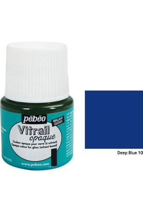 Pebeo Vitrail Cam Boyası 45Ml - 10 Deep Blue