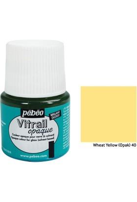 Pebeo Vitrail Cam Boyası 45Ml - 40 Wheat Yellow (Opak)