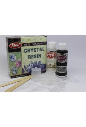 Rich Crystal Resin Transparan Şeffaf Kristal Reçine Set 195 Cc