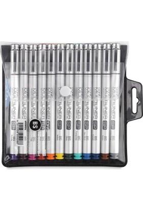 Copic Multiliner Sp Color 12`Li Set Renkli Bs Fırça Uçlu