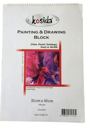 Ponart - Kosida Painting & Drawing Block 35X50 Resim Defteri 190 Gr. 30 Yaprak