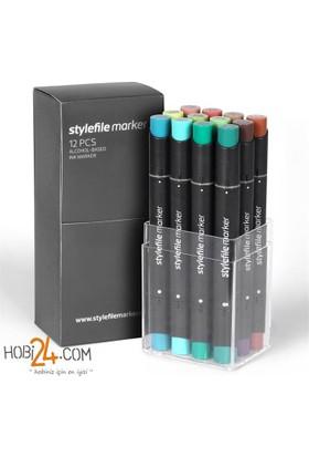 Stylefile Marker 12'Li Camouflage Set