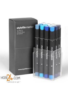 Stylefile Marker 12'Li Steel Set