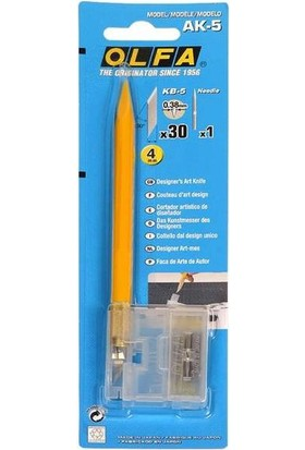 Olfa Ak-5 Kretuar Desen Tasarım Bıçağı + 30 Yedek