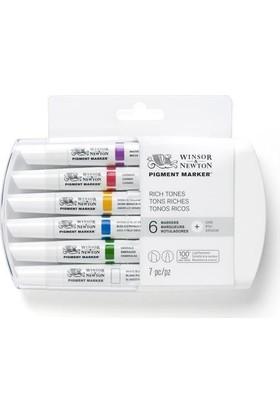 Winsor & Newton Pigment Marker 6'Lı Set Rich Tones