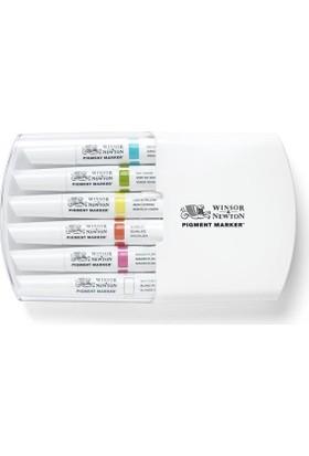 Winsor & Newton Pigment Marker 6'Lı Set Vibrant