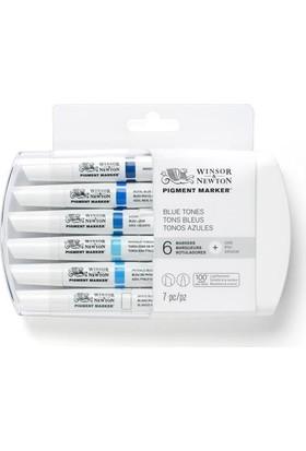 Winsor & Newton Pigment Marker 6'Lı Bluetones