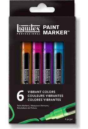 Liquitex Marker Set, Canlı Renkler 6X2Mm
