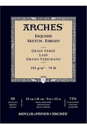 Arches Eskiz Defter - Grain Verge - 105Gr. - 23X31Cm