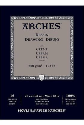 Arches Eskiz Defter - Cream - 200Gr. - 23X31Cm