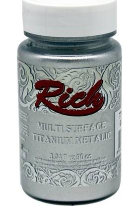 Rich Multi Surface Titanium Metalik Boya 90 Cc. N:2502 Gümüş