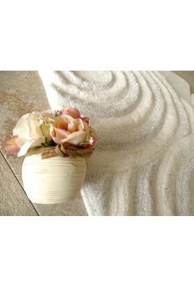Alessia Home Wave Beyaz 3'lü Banyo Takımı Seti