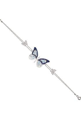 Alışverişrengi 925 Ayar Mavi Kelebek Bileklik