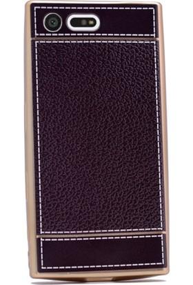 Gpack Sony Xperia X Compact Kılıf Derili Lazer Silikon Case