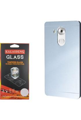 Gpack Huawei Mate 8 Kılıf Sert Arka Kapak Motomo Case + Cam