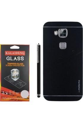 Gpack Huawei G8 Kılıf Sert Arka Kapak Motomo Case +Kalem + Cam