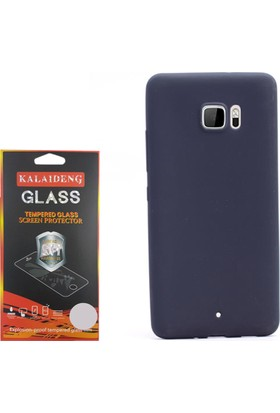 Gpack Htc U Ultra Kılıf Premier Silikon Case + Cam