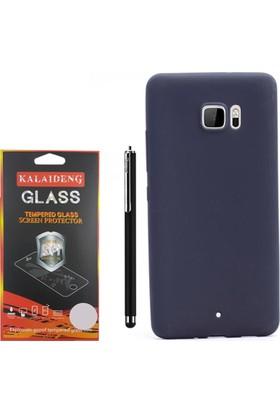 Gpack Htc U Ultra Kılıf Premier Silikon Case + Kalem + Cam