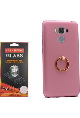 Gpack Asus Zenfone Zoom Zc553kl Kılıf Yüzüklü Stand Rubber Case + Cam