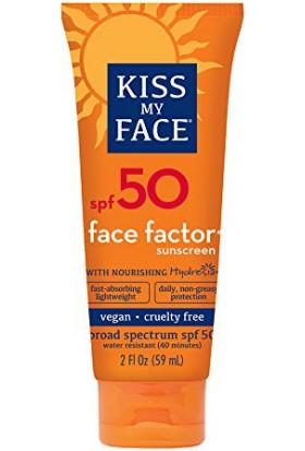 Kiss My Face Yüz Ve Boyun Bölgesi İçin Yağsız Güneş Koruyucu Spf 50