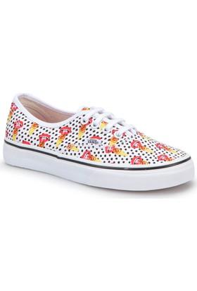 Vans Ua Authentic Beyaz Kırmızı Kadın Sneaker Ayakkabı