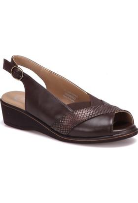 Polaris 5 Nokta 71.109726Gz Kahverengi Kadın Sandalet