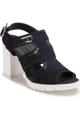 Miss F DS17072 Lacivert Kadın Sandalet