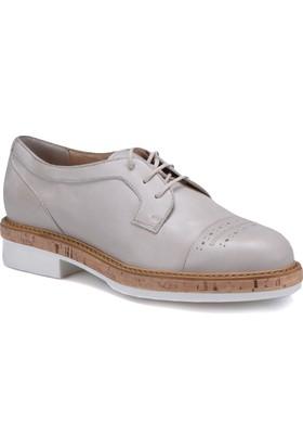 Butigo 171M2202MX Bej Kadın Deri Ayakkabı