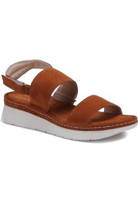 Butigo 171M3101EGL Taba Kadın Deri Sandalet