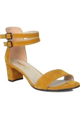 Loggalin 375320 031 327 Kadın Hardal Sandalet