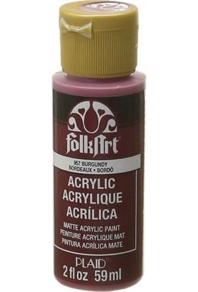 Plaid Folkart Akrilik Boya 59 Ml - 957 Burgundy