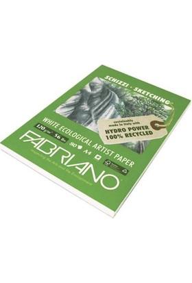 Fabriano Schizzi White Ecological Artist , Natural Dokulu Eskiz Blok, Gn/Ng - 120Gr, A4
