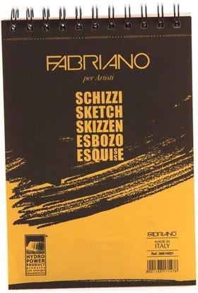 Fabriano Schizzi Nuovo Natural Dokulu Eskiz Bloknot, Spiralli Blok 90Gr., 14,8X21Cm