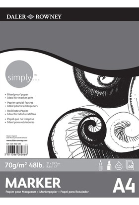 Daler Rowney Simply Marker Pad 70Gr. - A4
