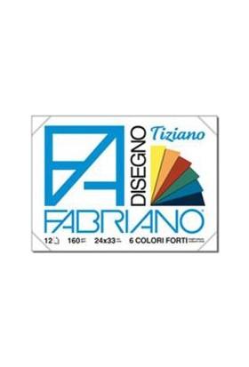 Fabriano Tiziano Disegno, 6 Adet Canlı Renk, 160Gr, 24X33Cm