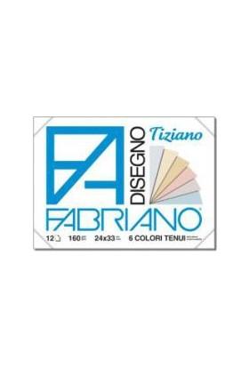 Fabriano Tiziano Disegno, 6 Adet Pastel Renk, 160Gr, 24X33Cm