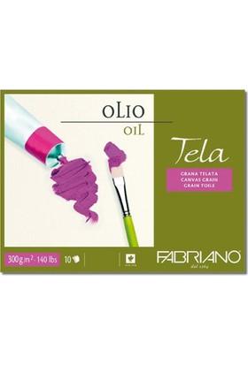 Fabriano Tela Olio, Tual Dokulu Yağlı Boya Blok, 300Gr, - Gt/Cg - 18X24Cm
