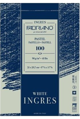 Fabriano Ingres Beyaz Pastel Blok, 90Gr - 21X29,7Cm