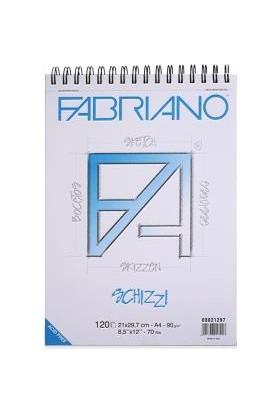 Fabriano Schizzi Classico Natural Dokulu Eskiz Bloknot, Spiralli Blok 90Gr., 14,8X21Cm